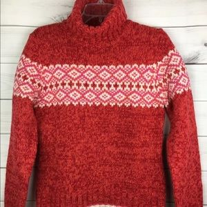 Gap 100% Lambswool Chunky Turtleneck Sweater